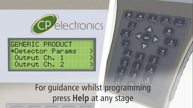 Commissioning made easy with LCD handset tutorial video from CP Electronics