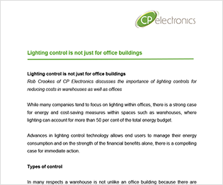 Lighting Control is not Just for Office Buildings