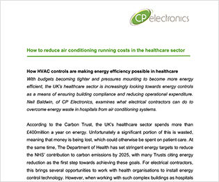 How to reduce air conditioning running costs in the healthcare sector